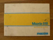 MAZDA 818 HANDLEIDING OWNER'S MANUAL 1976 ?  CAR AUTO