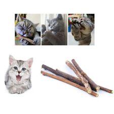 10pcs Natural Pet Cat Matatabi Chew Catnip Stick Teeth Molar Cleaning Brush Toy