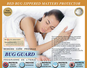 Lab Certified Bedbug Saver Mattress Cover Zippred Anti Allergy ,Anti Dust Mite