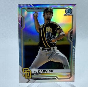 Yu Darvish 2021 Bowman Chrome Baseball #/499 Refractor Padres Card 16