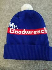Vintage 1970's Mr Goodwrench Knit Winter Beanie Pom Hat Advertising Cap Exc!