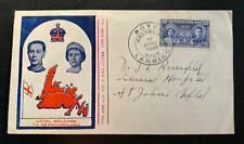1939 Newfoundland First Day Cover FDC Royal Welcome King George VI