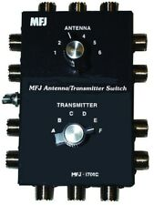 MFJ-1700C Six Position Antenna-Radio Switch W/ Surge Protection 2kW Rated