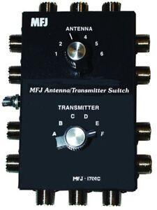 MFJ-1700C Six Position Antenna/Radio Switch W/ Surge Protection 2kW Rated Ham CB