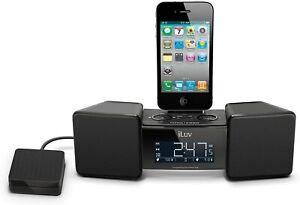 iLuv IMM155 Vibro II Alarm Clock 30-Pin Speaker Dock with Bed Shaker, Black
