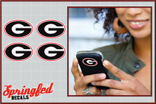 "Georgia Bulldogs G Logos 4 pack 2"" Vinyl Decals Car Truck UGA Cellphone Stickers"