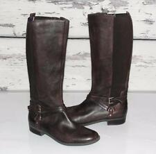 TOMMY HILFIGER~LEATHER *BELTED HORSE-BIT* HORSE-RIDING~EQUESTRIAN TALL BOOTS~9.5