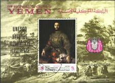 Jemen(Königreich) Block80 (kompl.Ausg.) gestempelt 1968 Florentinische Kunstwerk