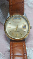 """Vintage Ricoh Dynamic Wide """"Full Day Window"""" Automatic 21 jewelsDay/Date Men's"""