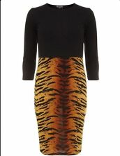 Crew Neck Animal Print Jumper Dresses