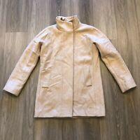 J Crew Womens Size 4 Beige Wool Blend Zip Up Coat Jacket