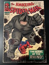The Amazing Spider-man #41 1st appearance of the Rhino! Marvel 1966