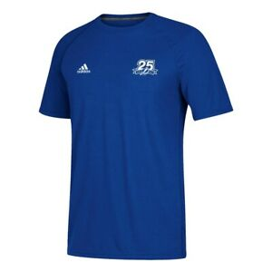 Tampa Bay Lightning NHL Adidas Men's Blue 25th Anniversary Climalite T-Shirt