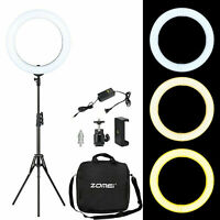 """Hot 18"""" LED SMD Ring Light Kit with Stand Dimmable 5500K for Makeup Phone Camera"""