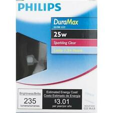"Philips DuraMax Medium G25 Globe Light Bulb ""Sparkling Clear"" 168872 6-Pack"