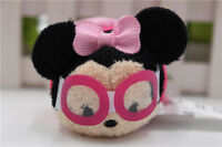 "2017 New Disney Store beach/summer Minnie Tsum Tsum 3.5"" Plush Doll Toy"