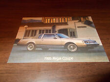 1985 Buick Regal Coupe Advertising Postcard