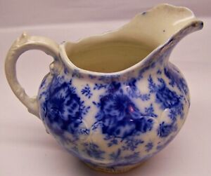 Nice Looking Antique WARWICK CHINA Flo Blue Pitcher