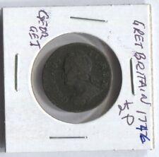 (JY)  Great Britain GB 1746 George II Half Penny