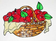 A Basket Of Apples Faux Stained Glass Window Cling