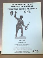 Defensive Combat Forward Rifle Platoon Manual 1966 Vietnam (dr4)