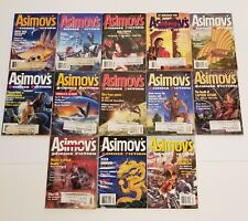 13 Issues of Asimov's Science Fiction Magazines~1995 Complete Year Full Set