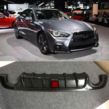 Rear Bumper Diffuser Lip For Infiniti Q50 2018-2019 Infiniti Tuning Carbon Fiber (Fits: Infiniti)