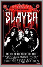 Slayer 1986 Tour Poster