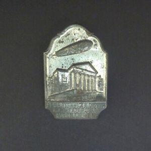 Genuine Graf Zeppelin Souvenir Lapel Badge – Landing at Meiningen. 1931