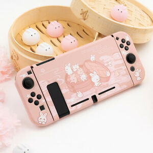 for Nintendo Switch Shell Case Cartoon Hard Cover Accessories Rabbit Pink Xmas