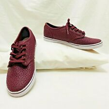 Vans Atwood low deluxe maroon laser cut Ultracush Womens Size 8.5 sneakers New