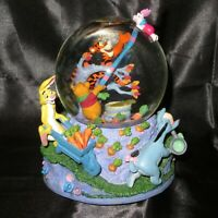 "Disney Store Winnie The Pooh & Friends ""Blustery Day"" Musical Snowglobe"