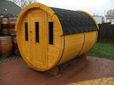 NEU 2m Fasssauna fertig zusammengebaut Saunafaß Außensauna Gartensauna Holzsauna