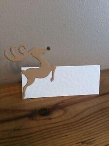 10 Rudolf Wedding Birthday Christmas Table Place Name Cards