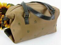 Vintage El Caballo Signature Jacquard & Leather Doctors Style Handbag From Spain