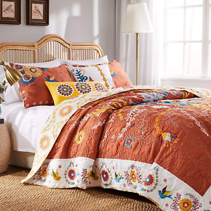 Barefoot Bungalow Topanga Quilt Set, 3-Piece King/Cal King, Multi