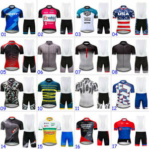 2021 Team MTB Men's Cycling Kits Short Jersey Bike Bib Shorts Set Clothing Wear