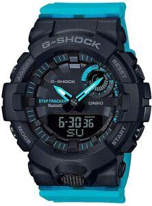 CASIO GMAB800SC-1A2 G-Shock Bluetooth Fitness Tracker Black Blue Women's Watch
