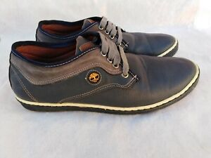 Timberland Low Shose Casual Leather Men's Dark Blue Used Size 7.5 Good Condition