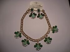 Alloy Green Fashion Jewellery Sets