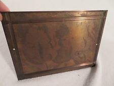 Vtg Etching Engraved Printing Machine Press Plate Stamp ~ Bearded Tulip Blue