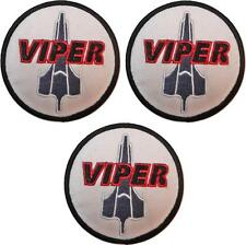 """Battlestar Galactica BSG Viper Logo Set of 3 Patches 3"""" Wide Embroidered Patches"""
