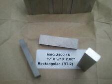 14 H X 12 W X 2 Long Alnico 5 Rectangular Magnet Precision Ground 4 Each