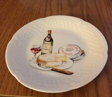 Philippe Deshoulieres Limoges France Camembert Cheese Small Plate Platter