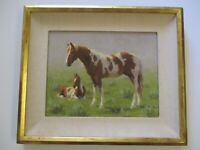 JIM REY OIL PAINTING HORSE HORSES WESTERN LANDSCAPE IMPRESSIONIST IMPRESSIONISM