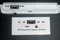 1967 PLYMOUTH GTX GAUGE FACES for REVELL KITS in 1/25 scale