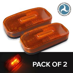Trailer Lights Amber LED Oblong Side Marker Clearance Light Waterproof