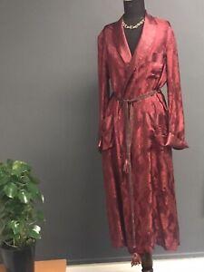 Vintage Original 1940s Sparkling  Ruby  Silk  Brocade Lounging Robe , Unisex