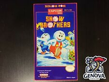 Snow Brothers Nes Replacement Game Label Sticker Precut