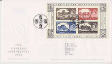 GB ROYAL MAIL FDC 2005 THE CASTLES DEFINITIVES MINIATURE SHEET M/S TALLENTS PMK
